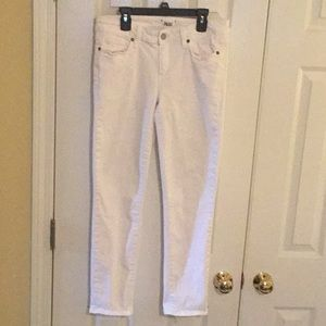 White Paige Kylie Crop Jeans